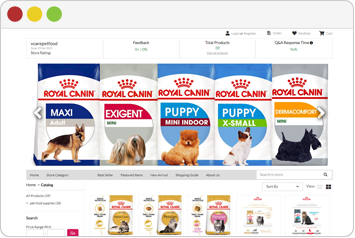 VCare Pet Food Store